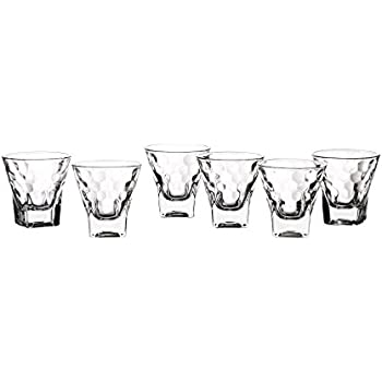 Clear Set of 6 Style Setter Aiden Shot Glasses