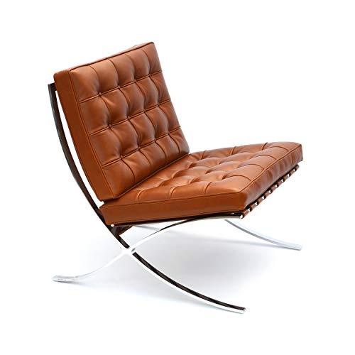 Barcelona Knoll Chair - Relax Leder Tan