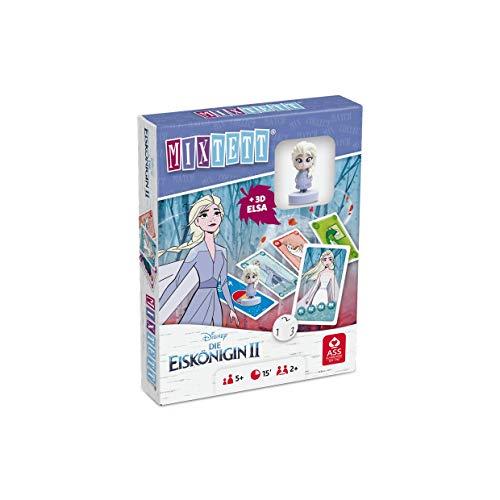 ASS 22522240 Disney Die Eiskönigin 2-Mixtett Kartenspiel mit Spielfigur ELSA