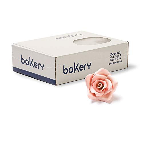Decora Bakery 0500010 Pakete 30 Mittelgroße Rosen Pfirsich, Dekorationsets