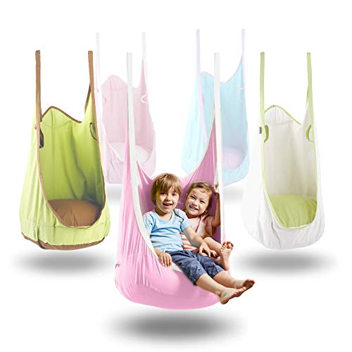 HappyPIE Hängehöhle,Hängesessel,Hängematten aus Baumwolle ideal,Indoor und Outdoor Geeignet für Kinder und Erwachsene(Pink)