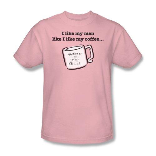 Wie Männer wie Kaffee - das T-Shirt in Rosa, XXX-Large, Pink