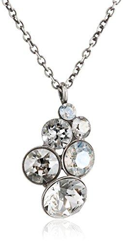 KONPLOTT Halskette Petit Glamour mit Swarovski-Steinen Damen In Mehrfarbig (Silber Weiß)