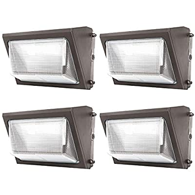 UL Listed- LED Wall Pack Outdoor Lighting, 5000K Cool White, Super Bright, 120 Degrees Beam Angle, Wall Light, Industrial Light, Comercial Light, Residential Light …