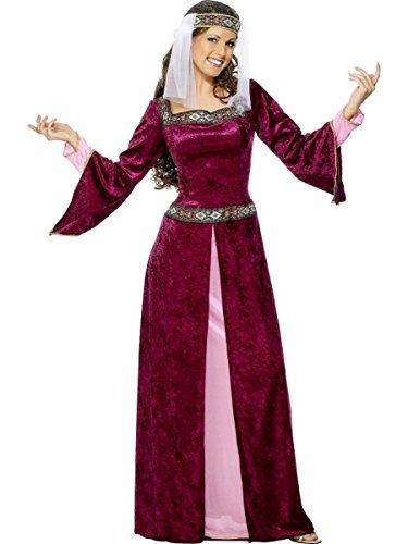 Smiffys Damen Kostüm Burgfräulein Mittelalter Karneval Fasching LARP XXL