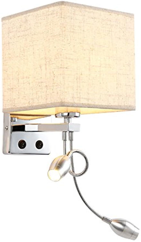 Wandleuchte,Nachttischlampe Schlafzimmer moderner Minimalist Hotelkreativitt Leselicht schwarze Abdeckung einzelnes Rohr Wand Lampe