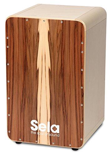 Sela CaSela Snare Cajon Satin Nuss SE 002A - Edelfurnier Spielfläche, spielfertig aufgebaut