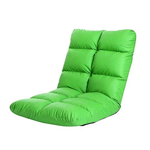 YANFEI Canapé simple créatif paresseux seul plancher pliable chambre à coucher petit canapé (Color : Green)