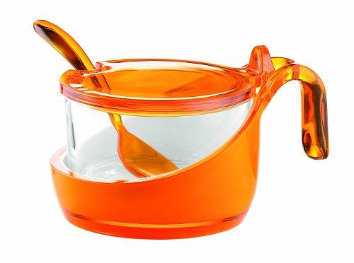 Guzzini Formaggera Glam/Vintage, Arancione Chiaro, 13.8 x 10 x h8 cm