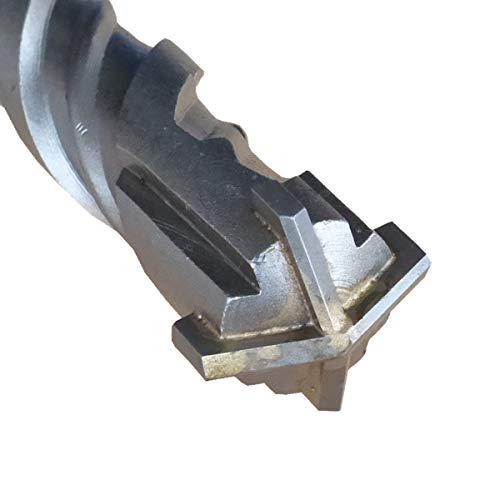 Broca para piedra SDS Plus, diámetro de 24 mm x 360 mm, taladro de percusión de cuatro filos Quadro-X para mampostería