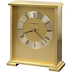 Howard Miller Exton Table Clock 645-569 – Brass Finish with Quartz Movement