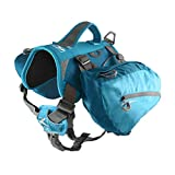 Kurgo Dog Saddlebag Backpack, Back Pack Dog Harness, Hiking Pack for Dogs, Packs for Pets to Wear, Camping & Travel Vest Harness, Reflective, Lightweight, Baxter Pack, For Medium & Large Pets
