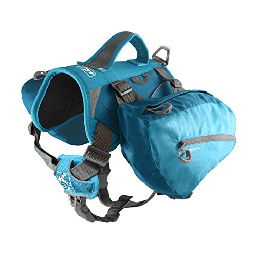 Kurgo Dog Saddlebag Backpack, Back Pack Dog Harness, Hiking Pack for Dogs, Packs for Pets to Wear, Camping & Travel Vest Harness, Reflective, Lightweight, Baxter Pack, For Medium & Large Pets