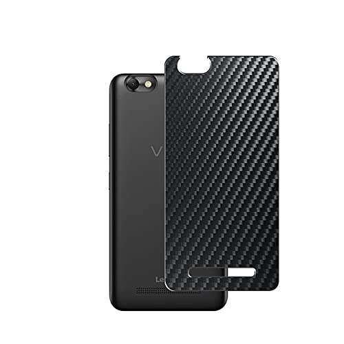Vaxson 2-Pack Back Protector Film, compatible with Lenovo VIBE C, Black Carbon Fiber Guard Cover Skin [Not Tempered Glass/Not Front Screen Protectors]