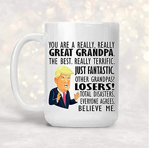 N\A Lustige Kaffeetasse GrA-N-Dpa Tasse präsentiert Trump Vatertagsgeschenk GrA-N-Dpa Tasse, GrA-N-Dfather Geschenk für Papa GrA-N-Dparent Geschenke für Ihn Herren Geschenke für GrA-N-Ddad Teetasse