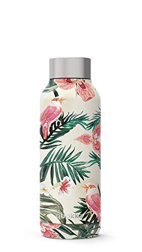 Quokka Solid - Jungle Flora 510 ML   Botellas De Agua Acero Inoxidable Sin BPA  Botella Térmica De Doble Pared - Mantiene el frío y el Calor para Niños y Adultos