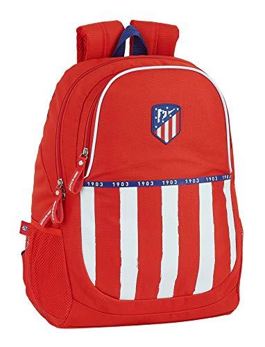Mochila Safta Escolar de Atlético de Madrid 1ª Equipación 20/21, 320x160x440 mm, Rojo/ Blanco/ Azul, 220x100x270 mm