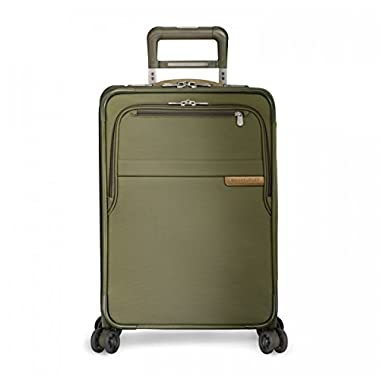 Briggs & Riley Baseline Domestic Carry-On Exp Spinner, Olive, One Size
