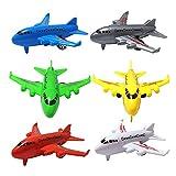 Demoyu 6 unids/Set Lindo Pull Back Airplane Modelo de Juguete para niños Baby Mini Colorido Dibujos Animados Aviones Playa Playa Juegos Niños