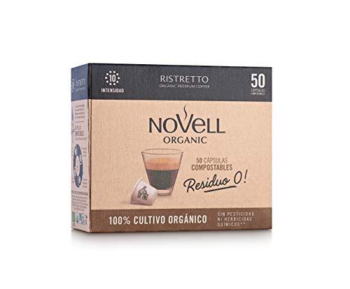 Cafés Novell Cápsulas Compostables con café Ecológico - Ristretto - 50u