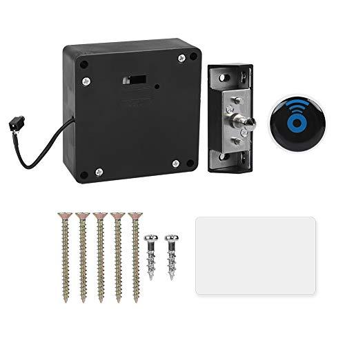 Biuzi Cerradura de cajón y gabinete, RFID Cerradura de cajón Inteligente Cerradura de gabinete Inteligente Electrónica con Lector Invisible Adecuado para Oficina en casa