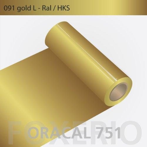 Orafol - Oracal 751 - 31cm Rolle - 5m (Laufmeter) - Gold / hochglänzend, A172oracal - 751 - 5m - 31cm - 02 - Gold - Autofolie / Möbelfolie / Küchenfolie