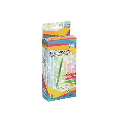 TTO Markeerstiften fluorescerend 12 stuks, groen