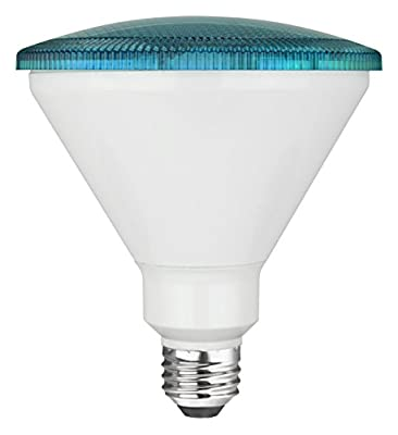 TCP RLP3817WBL LED Colored PAR38 - 90 Watt Equivalent (17W) PAR Flood Light - BLUE