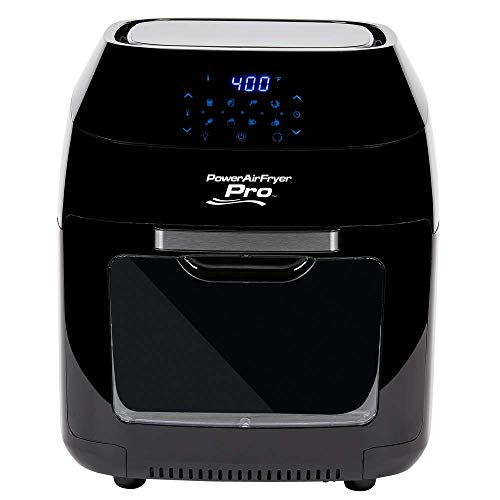 8 QT Family Sized Power Air Fryer Oven With - 7 in 1 Cooking Features with Professional Dehydrator and Rotisserie (Renewed)
