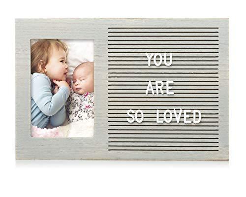Pearhead Classic Wooden Letterboard, Baby Keepsake Photo Prop