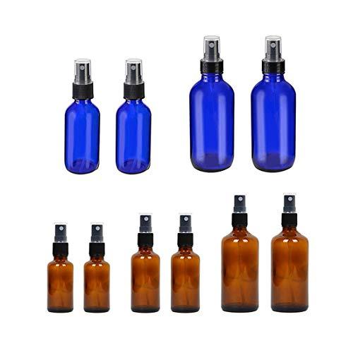 Flacon Pulvérisateur En Verre - 30-120ML Bouteille Vide Pour Le Jardin Des Cheveux Propres Parfum Lotion Huile Essentielle,10pcs