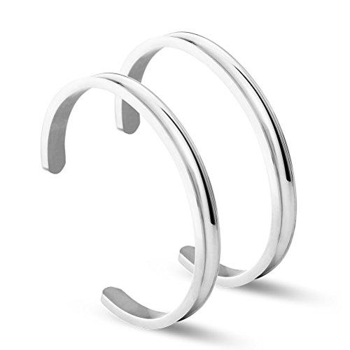 NewChiChi Haararmband Edelstahl Verstellbare Haargummi Armbänder Armreifen Rippenbündchen Armband Poliertes Armband für Damenschmuck