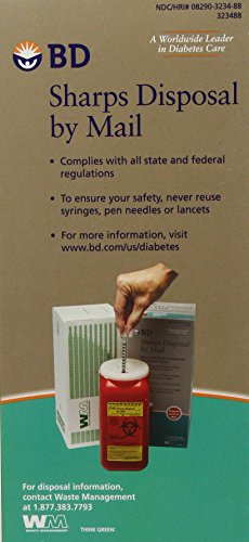 buy  BD Sharps Disposal by Mail Worry free Needle ... Diabetes Care