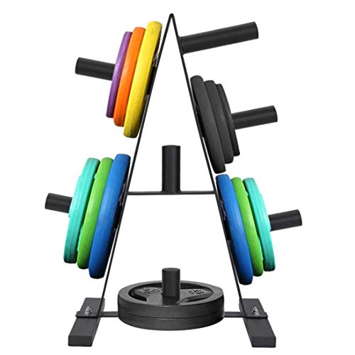AT-X 2 inch Weight Plate Tree, Weight Plate Rack for Bumper Plates Free Weight Stand, Maximum Load 400 LB [US Stock]