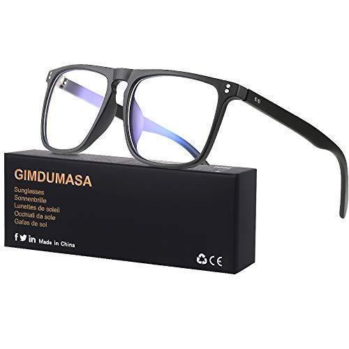 Gimdumasa Blaulichtfilter Brille Damen Herren Computerbrille Pc Gaming Bluelight Filter Uv Blueblocker Glasses GI766 (Schwarz)