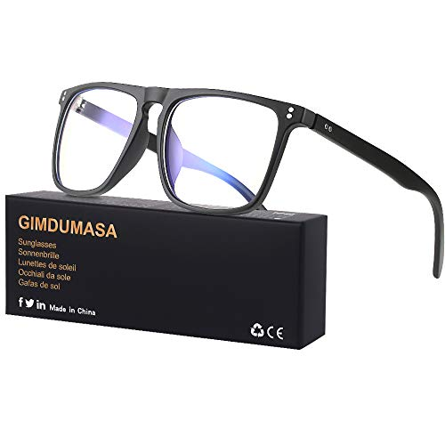 Gimdumasa Blaulichtfilter Brille Damen Herren Computerbrille Pc Gaming Bluelight Filter Uv Blueblocker Glasses GI766 (Schwarz)