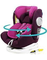 LETTAS チャイルドシート 360° 回転式 0か月~12歳頃(0~36kg) ISOFIX・シートベルト固定両対応