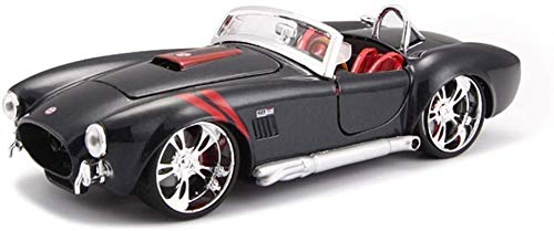 Zhangl Spielzeug, Fernbedienung Auto Spielzeug, Modellauto 1.24 Simulation Legierung Druckguss 1965 Shelby Cobra 427 Kinder Simulation Legierung Auto Spielzeug Sport Auto-Modell 17X7X5.2Cm Model Car