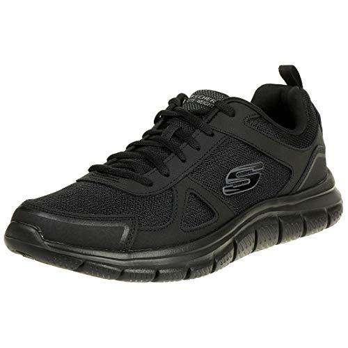 Skechers Track-scloric 52631-bbk, Zapatillas para Hombre, Negro (Black 52631/Bbk), 43 EU