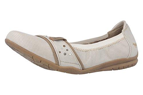 MUSTANG Shoes Ballerinas in Übergrößen Elfenbein 1181-203-203 große Damenschuhe, Größe:43