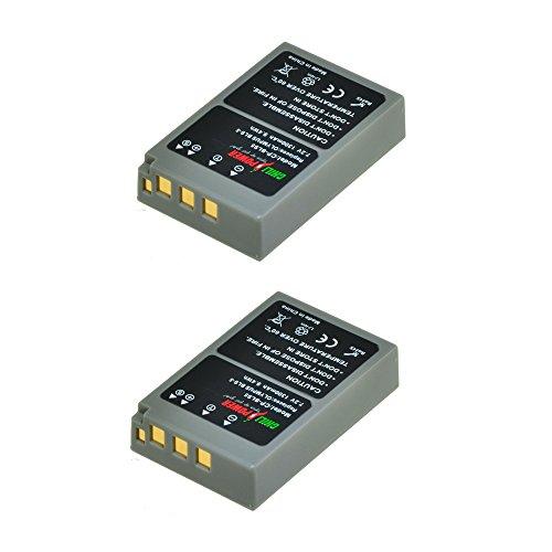 ChiliPower 2-Pack PS-BLS5, PS-BLS50, BLS-5, BLS-50 (1300mAh) Batería para Olympus OM-D E-M10, PEN E-PL2, E-PL5, E-PL6, E-PL7, E-PM2, Stylus 1