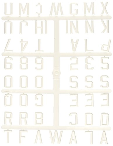 """Ghent 1"""" Gothic Font Uppercase Letters, Numbers & Symbols, White Plastic"""