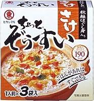 ヒガシマル醤油株式会社 ヒガシマル ちょっとぞうすい(さけ) 3袋箱 ×60個