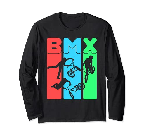 Mangiare sonno BMX ripetizione t-shirt bicicletta divertente regalo motocross Maglia a Manica