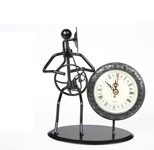 LD&P Eisen Handwerk Dekoration Dekoration Band Uhr Serie Home Decorations Couples Geschenk Showcase,A,16.5*8.5*17.5CM