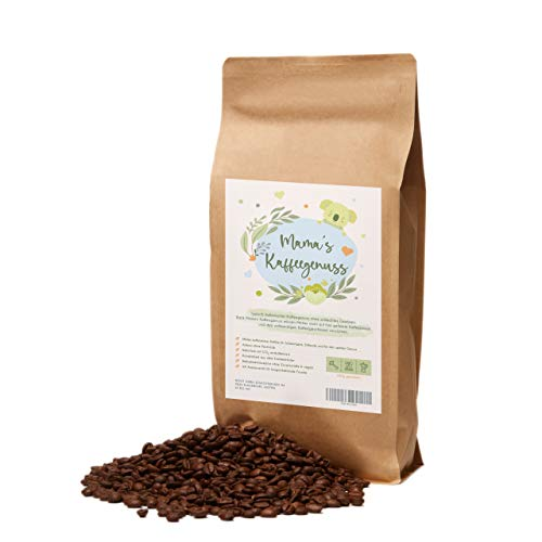 Mama's Kaffeegenuss - mit CO² entkoffeinierte Kaffeebohnen gemahlen | schonend in Italien geröstet | feinster Arabica mit einem Schuss Robusta für die perfekte Crema | ideal auch als Geschenk
