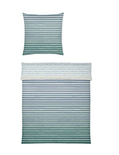 Yes for bed Bettwäsche 100% Baumwolle Mako-Satin Design Layers 774 135x200 cm (04 Petrol)