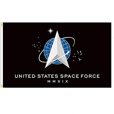 Probsin U.S. Space Force 3x5 Feet Flag Outdoor Banner Poster with Brass Grommets,Warp Knitting Cloth UV Resistance Fading & Durable Flag