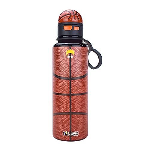Disruptive Drinkware 真空断熱 保温 保冷 水筒 ストロータイプ ロック キャリーストラップ ステンレスマグ ウォーターボトル ステンレスBPAフリー スポーツジム 観戦 アウトドア 遠足 ドライブに バスケットボールの水筒 500ml