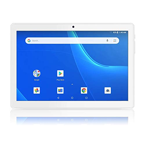Android Tablet 10 Inch, 5G WiFi Tablet, 16 GB Storage, Google Certified, Android 8.1 Go, Dual Camera, Bluetooth, GPS - Silver